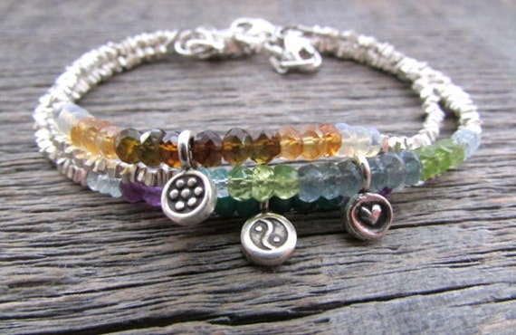 Custom Birthstone Bracelet with Gemstones