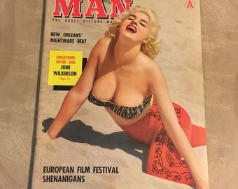Pin Up Girl Nudie Modern Man Magazine May 1959 June Wilkinson on Cover