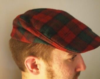 Pendleton Christmas Plaid Wool Newsboy Cap