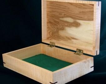 TIGER MAPLE BOX - Desk Box - Dresser Box - Butternut - Christmas