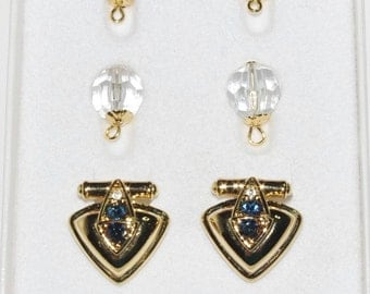 Nolan Miller Clip On Earrings with Changeable Parts             - S1561