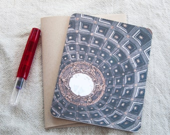 Folded Note Cards / Cathedral Ceiling and Stars / Folded Cards / Italy / Stationary Set