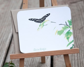 Butterfly Personalized Stationary - Stationery Set - Cute Butterfly On Branch Note Cards, Gift for Her