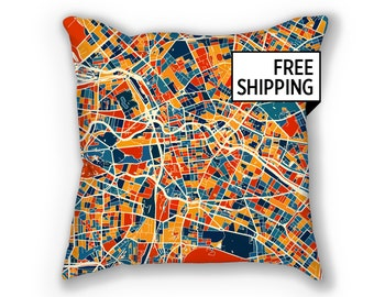 Berlin Map Pillow - Germany Map Pillow 18x18