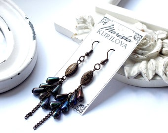 Earrings with pearl beads / trendy style