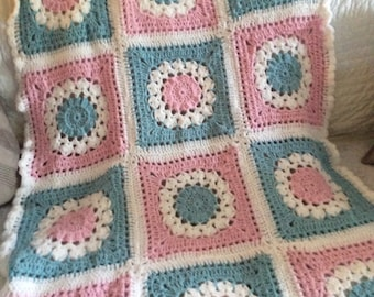 Beautiful crotchet shabby chic blanket