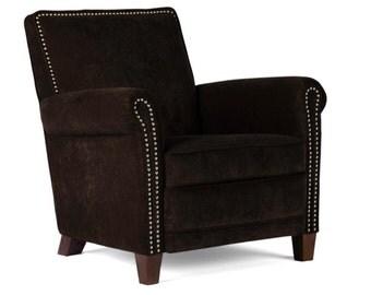 Genuine High End Leather Accent Chair Club Chair Cigar