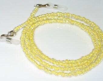 Neutral yellow glasses chain 78 cm (90)