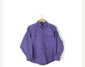 SUMMER SALE Vintage Faded Purple Long sleeve Cotton shirt from 80's*
