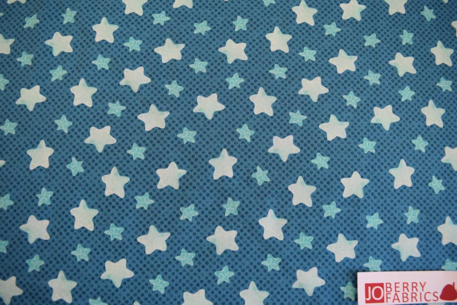 Stars fabric white stars on aqua puffy teddy collection for Star fabric australia