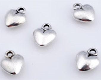 10 silver heart pendant, heart, 14 x 8 mm