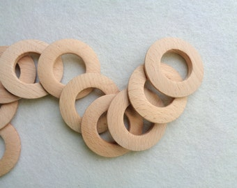 Unfinished Wood Circle for Jewelry, Wood Pendants for earrings 50mm,