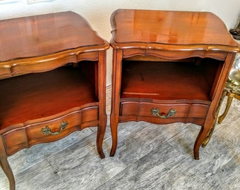 Pick your color - - Vintage French provincial nightstands end tables