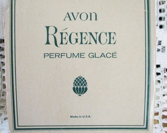 Vintage 1960  Avon Regence, Perfume Glace - all original - awesome Fragrance - Estate FInd !