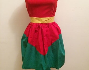Robin batman cosplay dress.  Made to measure