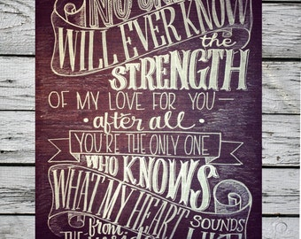 No one will ever know the strength of my love--Nursery chalk art