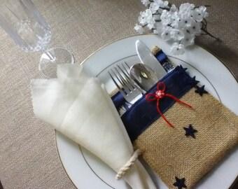Cutlery Pocket Holder Outdoor Flatware Setting Banquet Holder Silverware Holder