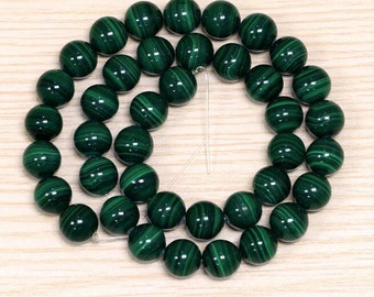Natural 4mm/6mm  Malachite From Congo Rock Stone beads Semi-preciouse Stone Loose Beads For DIY Bracelet Necklace YD006