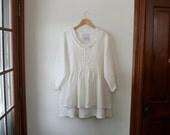 Linen Blouse/ Washable Linen ' Michèle' Shirt / by Breathe Clothing
