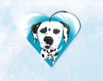 Dalmatian Ornament - Dalmatian Magnet - Dalmation - Refrigerator Magnet - Dalmatians - Pet Portrait - Dalmatian Art - Chritmas Ornament