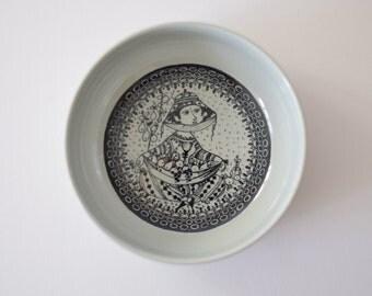Bjørn Wiinblad for Nymølle - bowl - autumn - seventies - Danish pottery midcentury
