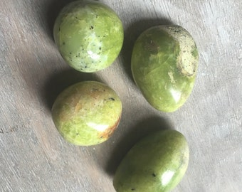 Green Opal - Healing Stones - Healing Crystals - Loose Gemstones - Palm Stone - Worry Stone - Mineral Specimen - Chakra Stones