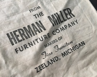 Rare Early 50s Herman Miller Parts Bag w/ Attached Envelope Eames George Nelson Girard