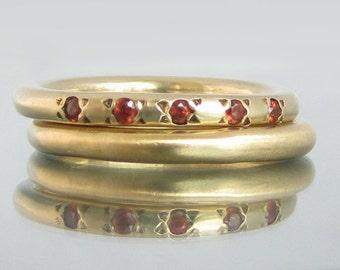 garnet gold ring, gold ring garnet, stackable rings birthstone, garnet jewelry, garnet ring gold, gold gemstone ring, stackable gold rings