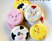 Small Farm Animal Sugar Cookies - 2 Dozen