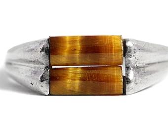Tigers Eye Ring Silver