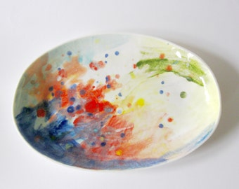 Colourful porcelain dish
