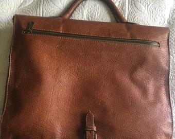Vintage Brown Leather Satchel