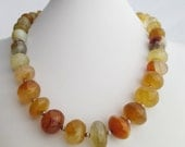 SALE - Natual Yellow Chalcedony, Fine and Sterling Silver