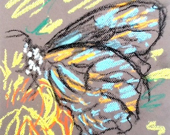 Original Pastel Sketch from Artisan - Ballad Of The Butterfly