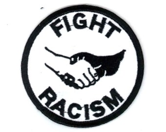 Fight Racism Embroidered Patch