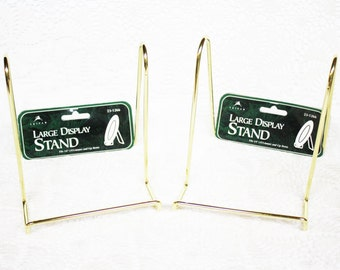 Display Stand, Plate Easel, Picture Easel, Large Brass Display Stand, Silver Display Stand, Silver Easel, Brass Easel, Decorative Easel