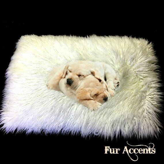 SALE Dog Bed Pet Cat Mat Faux Fur Shaggy Long By FurAccents