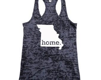 Missouri Home Burnout Racerback Tank Top - Women's Workout Tank Top