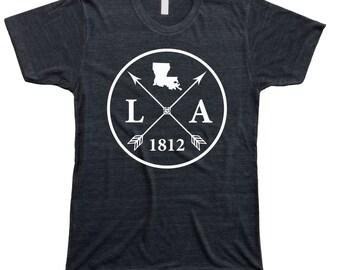 Homeland Tees Men's Louisiana Arrow T-Shirt