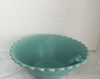 Vintage Weller Pottery Bowl Turquoise Weller Bowl Beautiful Turquoise Bowl Home Decor