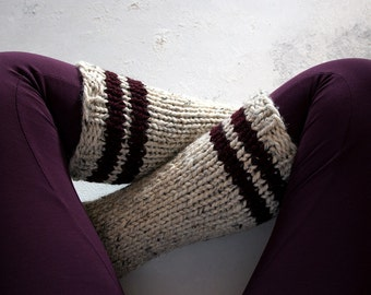 Tube Sock Knitting Pattern - HAPPINESS - a set of instructions to knit