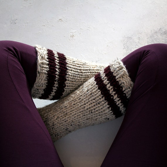 Sock Knitting Pattern In The Round : Tube Sock Knitting Pattern HAPPINESS a set of instructions