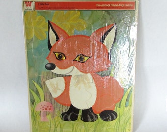 Little Fox Puzzle Whitman PreSchool Frame Tray Cardboard Puzzle