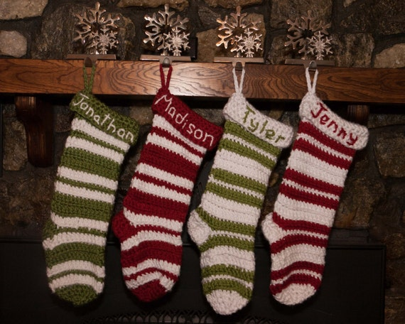 Knitting Pattern For Baby Christmas Stocking : Christmas Stockings Holiday Stockings Knit stockings