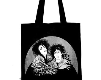 Siouxsie Sioux & Robert Smith tote bag/record bag