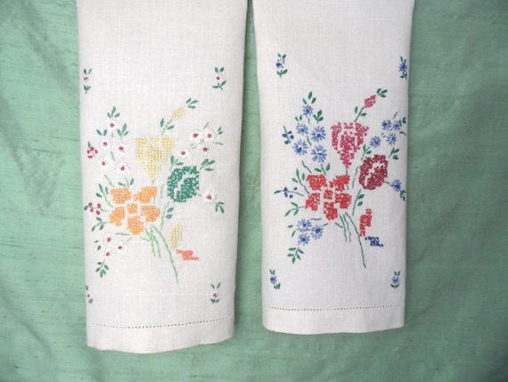 how to set up linen for cross stitch