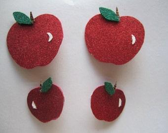 Apple hair clips, Back to school hair clip or headband.