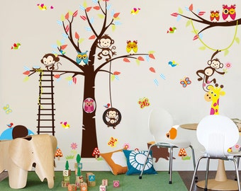 Large Size PVC Zoo Park Wall Sticker for Nursery, Child Room Decor ZY1213