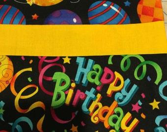 Happy birthday pillowcase! Free personalization!