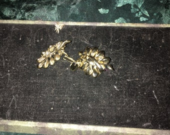 Vintage gold tone Coro clip-on earrings